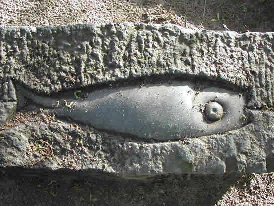 fisch in stein gehauen