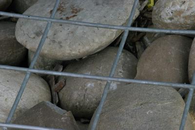 Steine im Gitter